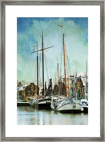 Sailboats Framed Print