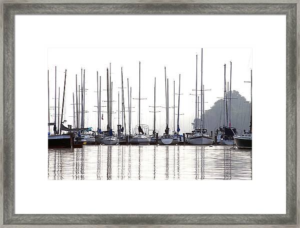 Sailboats Reflected Framed Print