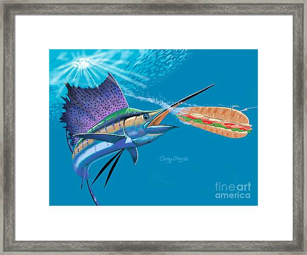 Sailfish Sub Framed Print
