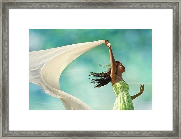 Sailing A Favorable Wind Framed Print