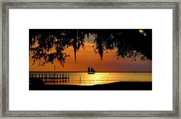 Sailing Destin Framed Print