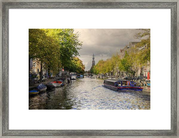 Sailing In Amsterdam Framed Print