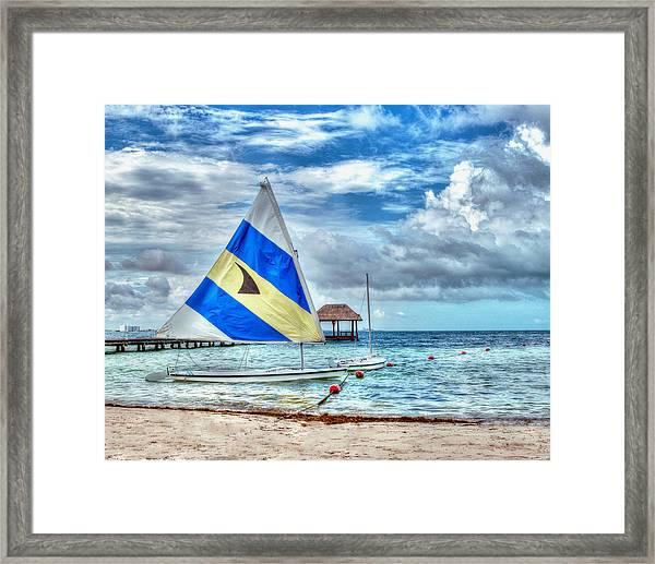 Sailing In Cancun Framed Print