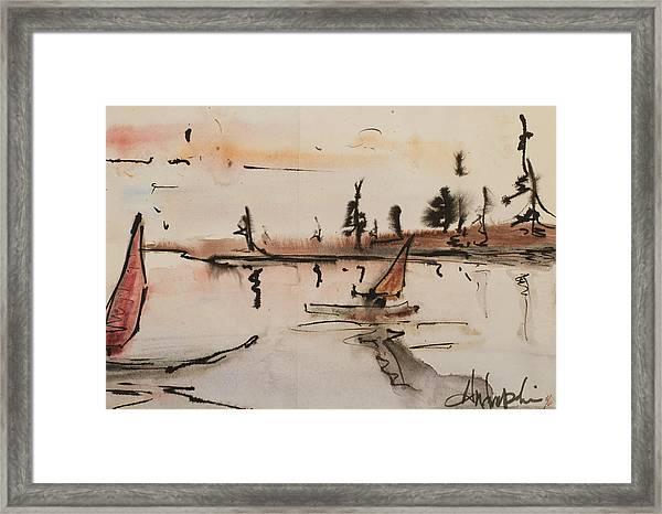 Sailing In Door County 1 Framed Print