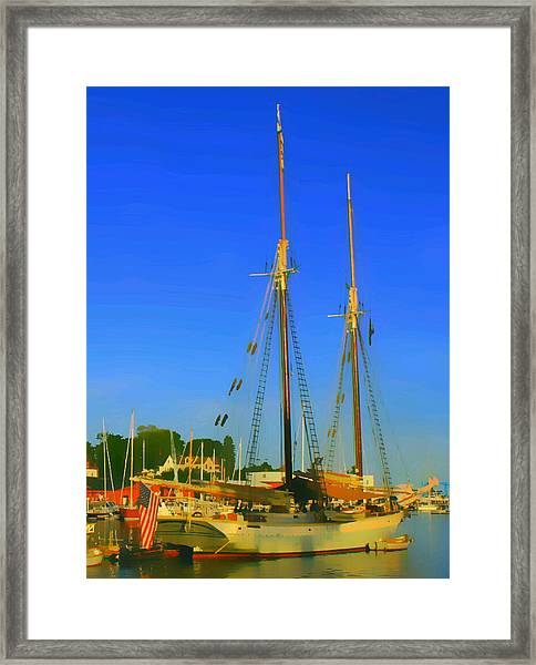 Sailing In Maine Framed Print