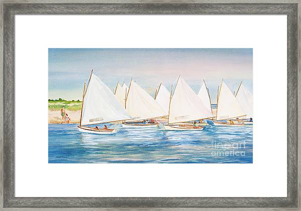 Sailing In The Summertime II Framed Print