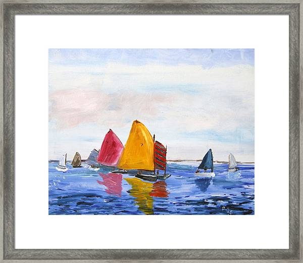 Sailing Nantucket Sound Framed Print
