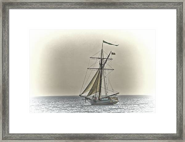 Sailing Off Framed Print