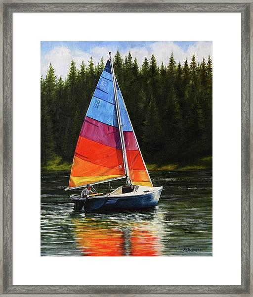 Sailing On Flathead Framed Print