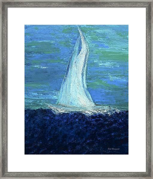Sailing On The Blue Framed Print