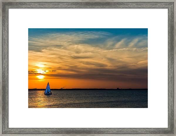 Sailing On The Chesapeake Framed Print