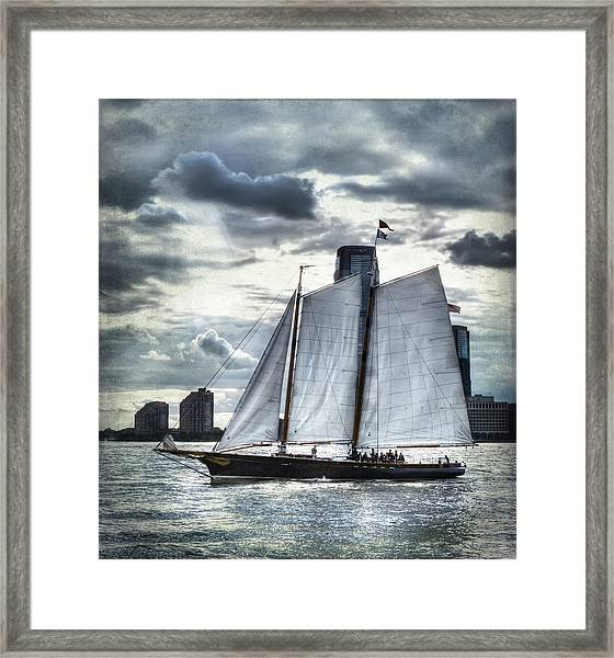 Sailing On The Hudson Framed Print