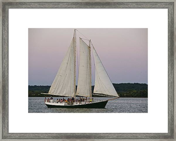 Sailing On The Potomac Framed Print