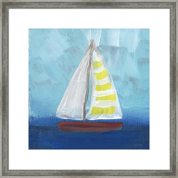 Sailing- Sailboat Painting Framed Print