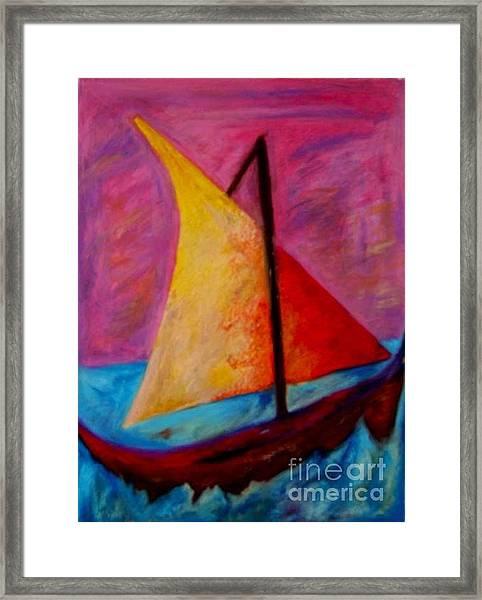Sailing The Seas Framed Print
