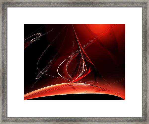 Sailing With The Firewind Framed Print