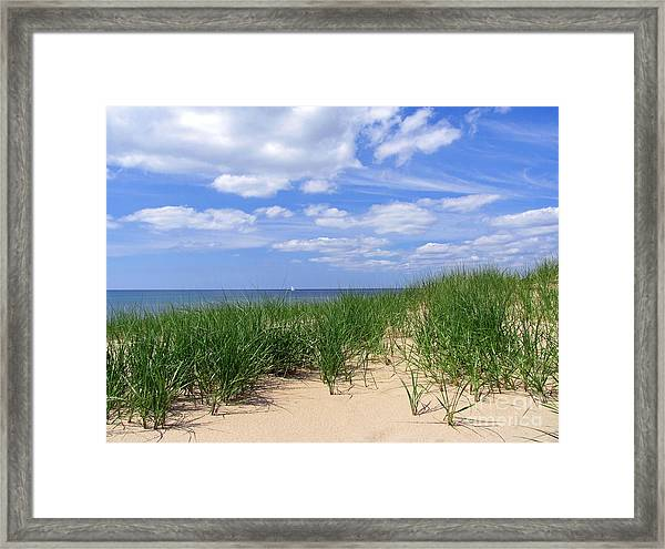 Sailing With The Windward Sky Framed Print