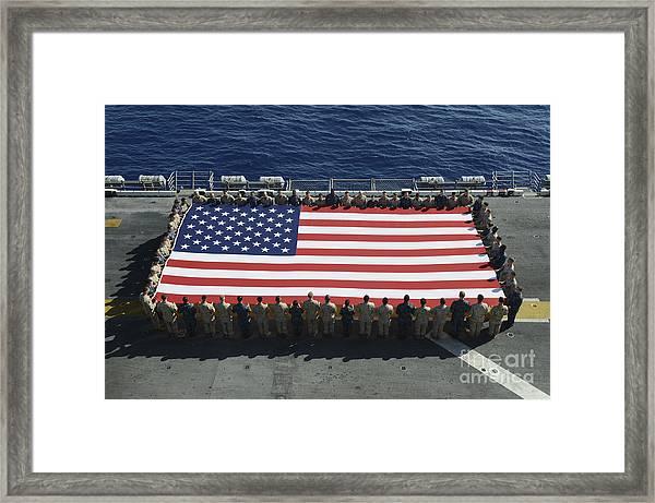 Sailors And Marines Display Framed Print