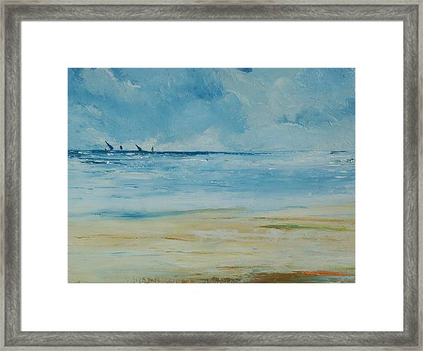 Sails Beyond The Reef Framed Print