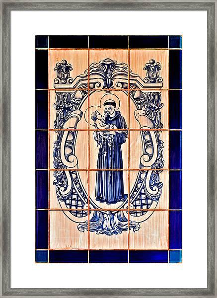 Saint Anthony Of Padua Framed Print