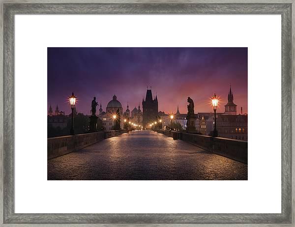 Saint Charles Bridge, Prague Framed Print by Inigo Cia