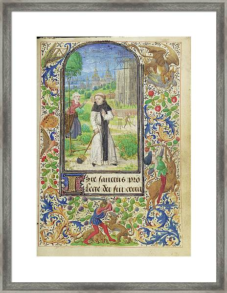 Saint Fiacre And The Shrew Houpdée Becnaude Or Baquenaude Framed Print by Litz Collection