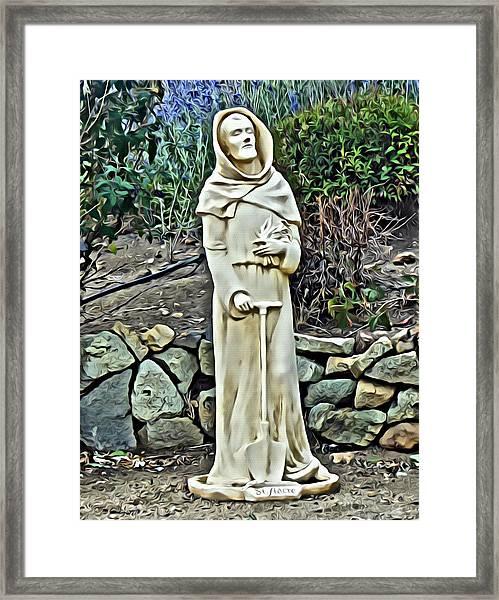 Saint Fiacre Framed Print