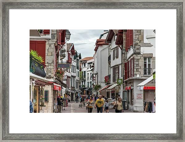 Saint Jean De Luz Merchant Street Framed Print