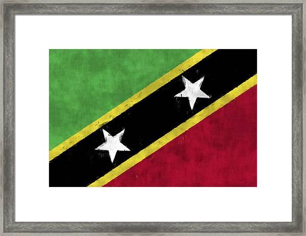 Saint Kitts And Nevis Flag Framed Print