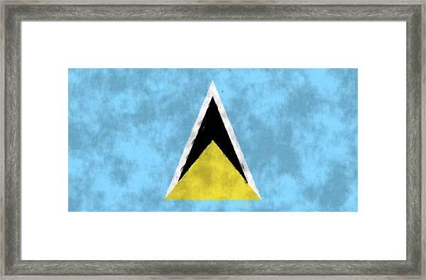 Saint Lucia Flag Framed Print