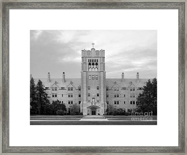 Saint Mary's College Le Mans Hall Framed Print
