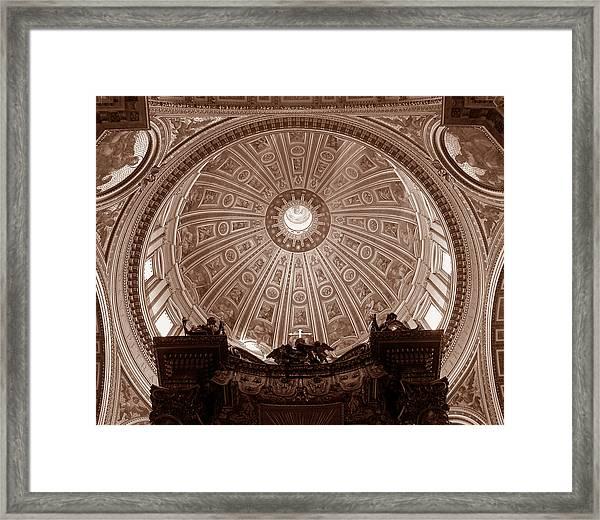 Saint Peter Dome Framed Print
