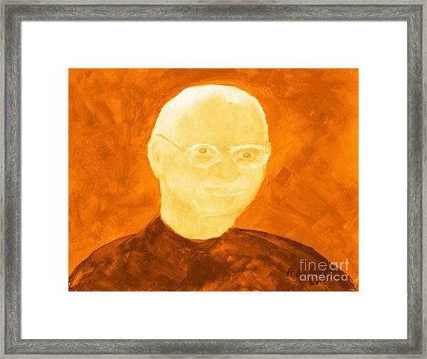 Saint Steven Paul Jobs 3 Framed Print by Ricardo Richard W Linford