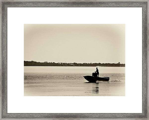 Saintlucieboating Framed Print by Patrick M Lynch