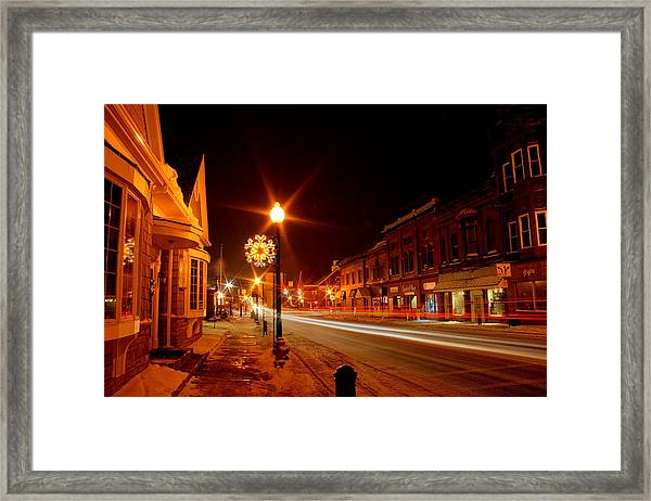 Salem Ohio Christmas Framed Print