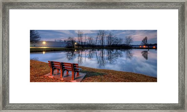 Salem Ohio Industrial Park Sunset Framed Print
