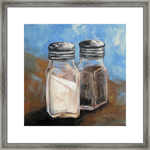 Salt And Pepper Iv Framed Print by Torrie Smiley