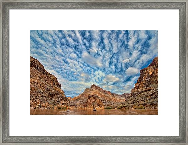 Salt Creek Clouds Framed Print