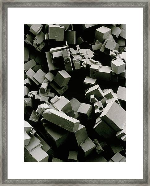 Salt Crystals Framed Print