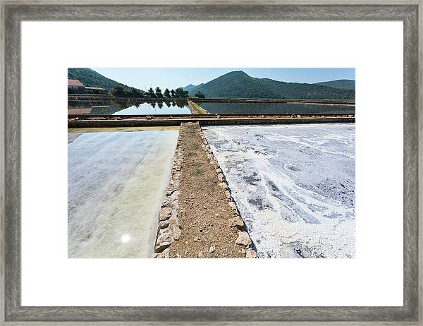 Salt Evaporation Ponds Framed Print