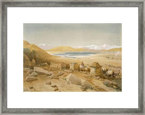 Salt Lake - Thibet, From India Ancient Framed Print