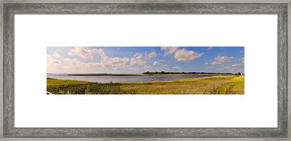 Salt Marsh Morning - Southport Framed Print