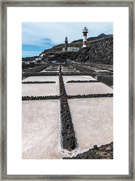 Salt Pans Framed Print