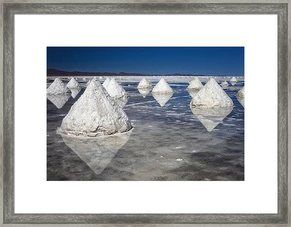 Salt Pyramids Framed Print