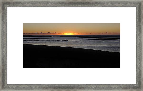 Salty Sunrise Framed Print