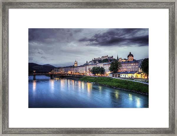 Salzburg Sunset Framed Print