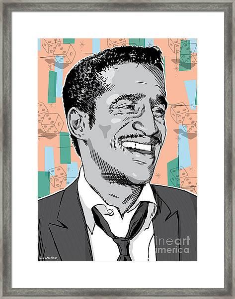 Sammy Davis Jr Pop Art Framed Print