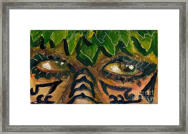 Samoan Eyes Framed Print