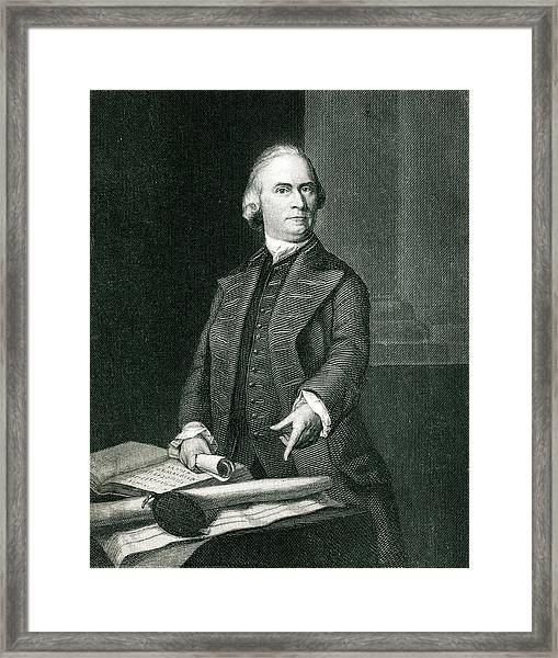 Samuel Adams  American Revolutionary Framed Print by Mary Evans Picture Library