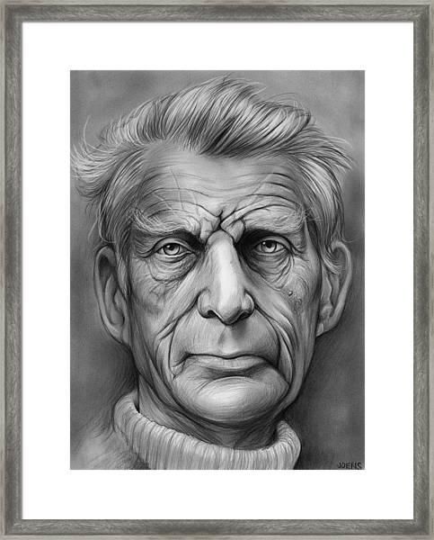 Samuel Beckett Framed Print